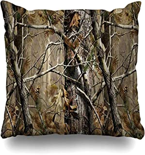 Throw Pillow Covers Realtree Camo Pillowslip Square Sofa Cute 18 x 18 Inches Cushion Cases Pillowcases