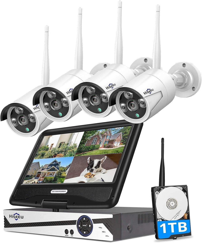 Hiseeu Monitor Wireless Security Camera System