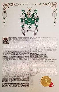 Medeiros - Coat of Arms, Crest & History 11x17 Print - Surname Origin: Portugal