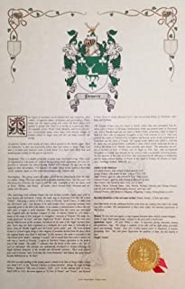 Phillips Coat of Arms, Family Crest & History 11x17 Print - Name Meaning Plus Genealogy, Family Tree Research - Surname Origin: Hungary/Hungarian
