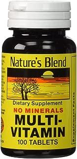 Nature's Blend Multi-Vitamin No Minerals 100 Tabs