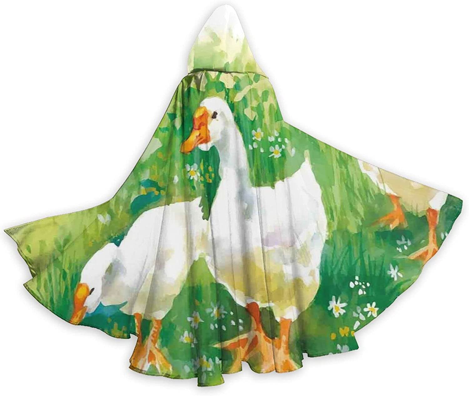Cloak Goose In Farm Lake Bombing free Mail order shipping Plants Pond Animals Grass Flowers Reeds