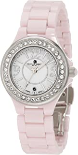 Charles-Hubert, Paris Women's 6777-P Premium Collection Pink Ceramic Watch
