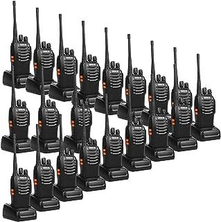 Retevis H-777 2 Way Radios UHF Long Range 16CH Emergency Portable Walkie Talkies Set (20 Pack) with USB Charging Base