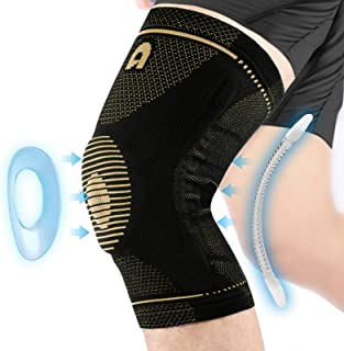 Professional Knee Support Brace for Men and Women, Breathable Knee Compression sleeve with Gel Pads for Knee Protection, K...
