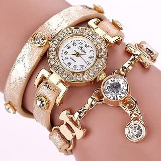 Fheaven Hot sale fashion luxury crystal pendant watches bracelet watch women wrist watch