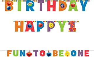 amscan 1st Birthday Elmo Letter Banner Kit Party Supplies Elmo Sesame Street Fun to be One!