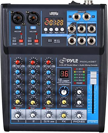 Pyle Professional Audio Mixer Sound Board Console System Interface 4