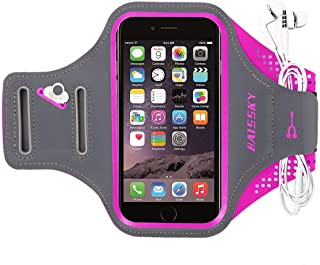 Brazalete deportivo Para Correr Prueba de Sudor Apoyo Gimnasio Deportivo Brazo Banda Armband soporte para llaves,cables y tarjetas para iPhone 8/7/6,Galaxy S9/S8 Huawei,Bq x5,HTC, LG hasta 5.2 pulgas