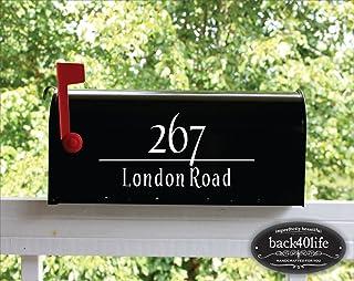 Back40Life | Mailbox Numbers Street Address Vinyl Decal (E-004c)