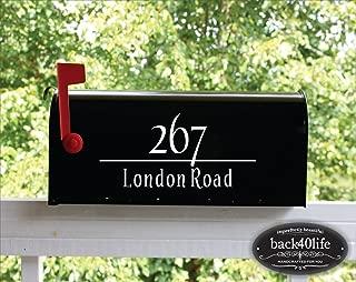 Back40Life - Mailbox Numbers Street Address Vinyl Decal (E-004c)