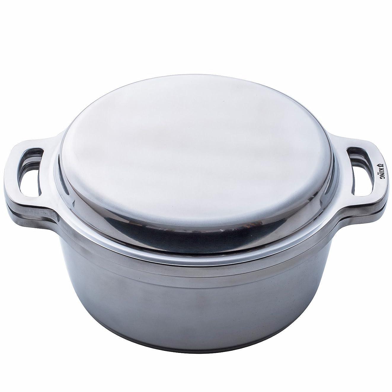 十一特別な分数ハルムスイ KING 無水鍋 両手鍋 24cm 600034