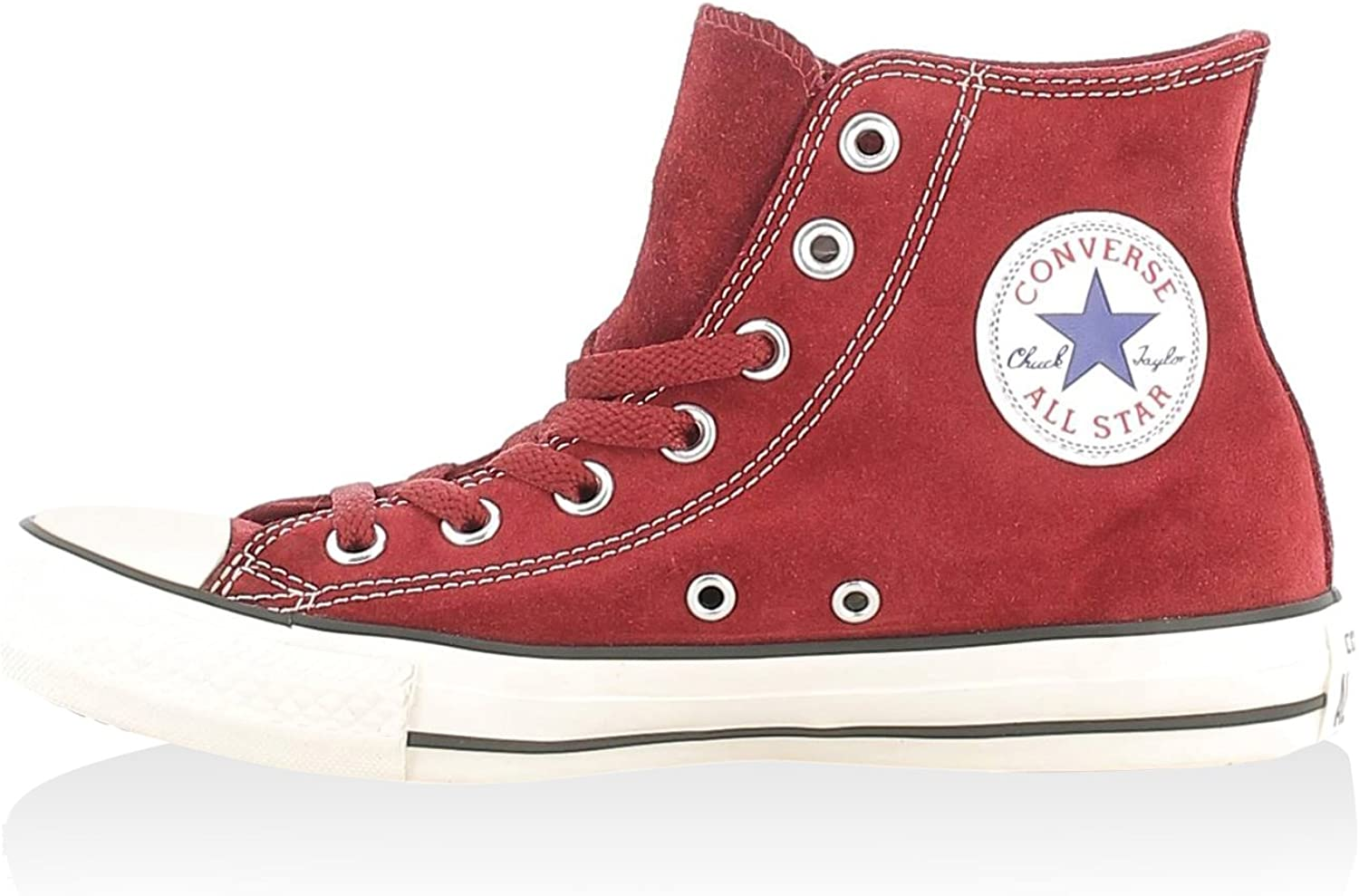 shoes UNISEX CONVERSE ALL STAR HI SUEDE 155243C (41.5 - RED)