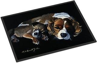 Caroline's Treasures FMF0022MAT Cozy Pals with Cavalier Spaniel Indoor or Outdoor Mat 18x27, 18H X 27W, Multicolor