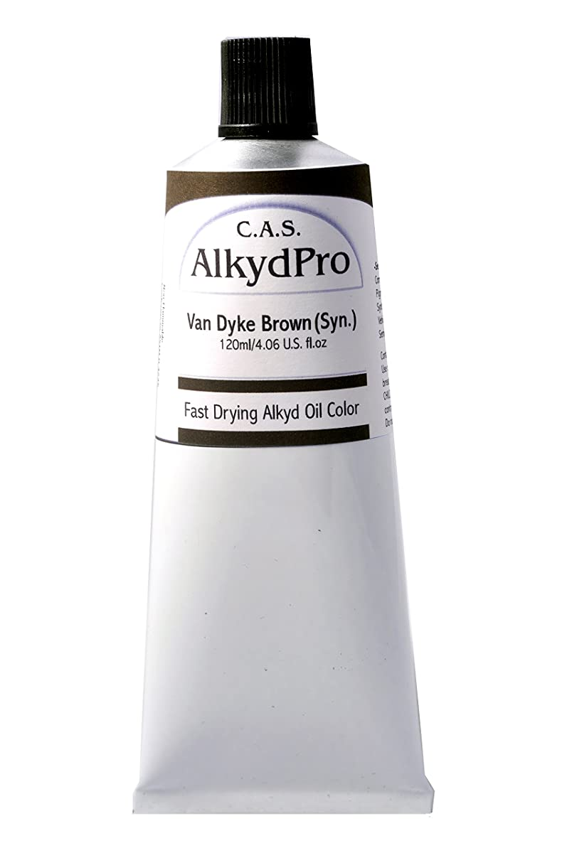 C.A.S. Paints AlkydPro Fast-Drying Oil Color Paint Tube, 120ml, Van Dyke Brown