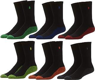 Men's Assorted Classic Sport Crew Socks - 6 Pairs