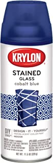 Krylon 9036 Stained Glass Paint 11.5oz-Cobalt Blue, 11.5 oz, 11 Fl Oz