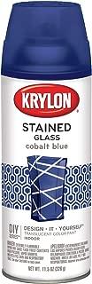 Krylon 9036 Stained Glass Paint 11.5oz-Cobalt Blue, 11.5 oz