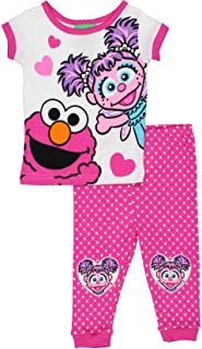 Sesame Street Elmo and Abby Cadabby Toddler Girls Cotton Pajamas Set