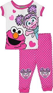 Sesame Street Elmo and Abby Cadabby Toddler Girls Cotton Pajamas Set