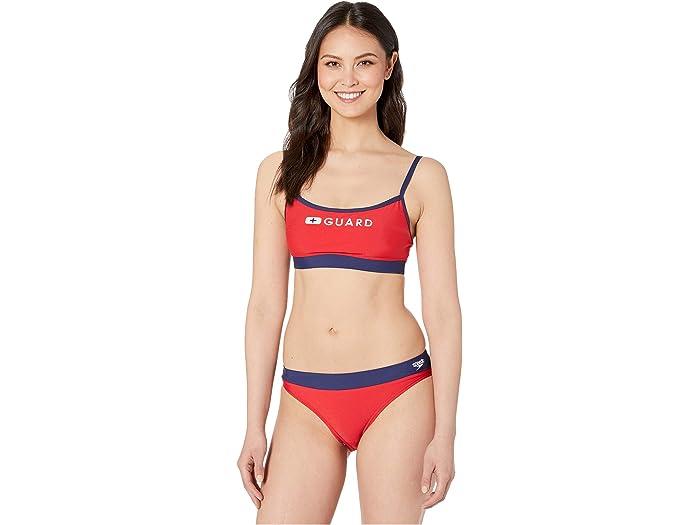 Speedo Top De Correa Delgada Guard Us Red Swimwear