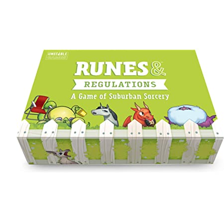 TeeTurtle Runes & Regulations Card Game - from The Creators of Unstable Unicorns - A Strategic Card Game & Party Game for Adults & Teens, Green