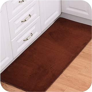 Absorbent Doormats Outdoor Bathroom Carpets Mats Coral Fleece Hallway Rugs Bedroom Bedside Mats Anti-Slip Kitchen Rugs,Coffee,80X120cm