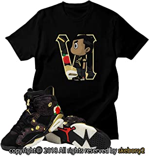 0569b3b98aa1 Custom T Shirt Matching Air Jordan VI Retro 6 Chinese New Year JD 6-5