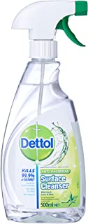 Dettol Antibacterial Surface Cleanser Trigger Spray Lime & Mint Disinfectant, 500ml