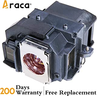 ELPLP54 Projector Lamp with Housing for Epson EX71 EX51 H331A EX31 H309A H310C H328A H328B PowerLite S8+ S7 705HD Replacement Lamp by Araca
