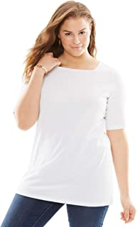 Woman Within Women's Plus Size Perfect Square Neck Tee