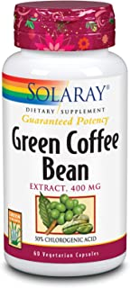 Solaray Guaranteed Potency Green Coffee Bean Extract, Veg Cap (Btl-Plastic) 400mg   60ct