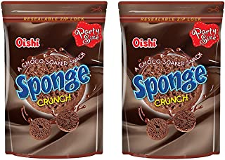 Oishi Sponge Crunch Chocolate Flavor 120g, 2 Pack