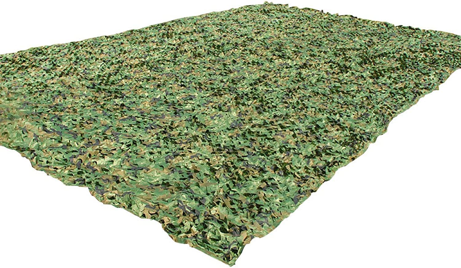 Camouflage Net Oxford Polyester Lightweight UV Resistant Army Camo Net Camo Netting for Sunshade Decoration Hunting Blind Shooting Camping Photography Jungle-Green