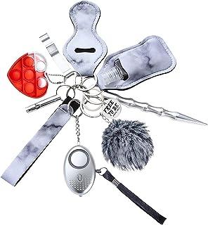 Keychain Set Tiktok Free to Be Pride 2021 for Women Girls Men Keyring LGBT Gift Portable کیت زنجیره ای 11 در 1 با نگهدارنده روکش Pom Lapstick Chapstick