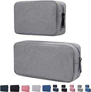 Electronics Accessories Organizer Bag,Portable Digital Storage Bag Cable,Power Bank,Charger,Charging Cords,Mouse,Adapter,Earphones More Out-Going,Business,Travel Gadget Bag,Grey(Small+Big)
