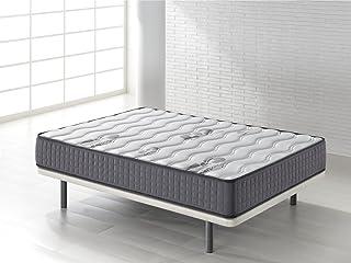 Seasons - Colchón viscoelástico de 25 cms, para cama de 90x190cm. Reversible con malla