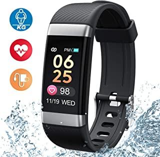Dido Fitness Tracker Watch, Activity Tracker with Smart Body Fat Bracelet Montiors,Slim Heart Rate Blood Pressure and Sleep Montiors with Call/SMS Remind for Women Kids and Men