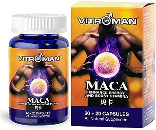 VITROMAN Maca- Pure Maca Root & Tongkat Ali Combination - Maca Root Extract Supplement from Peru - Natural Pills to Suppor...