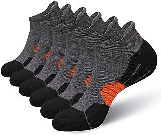 Eallco Mens Ankle Athletic Socks Performance RunningCushioned Tab Sock 6 Pairs