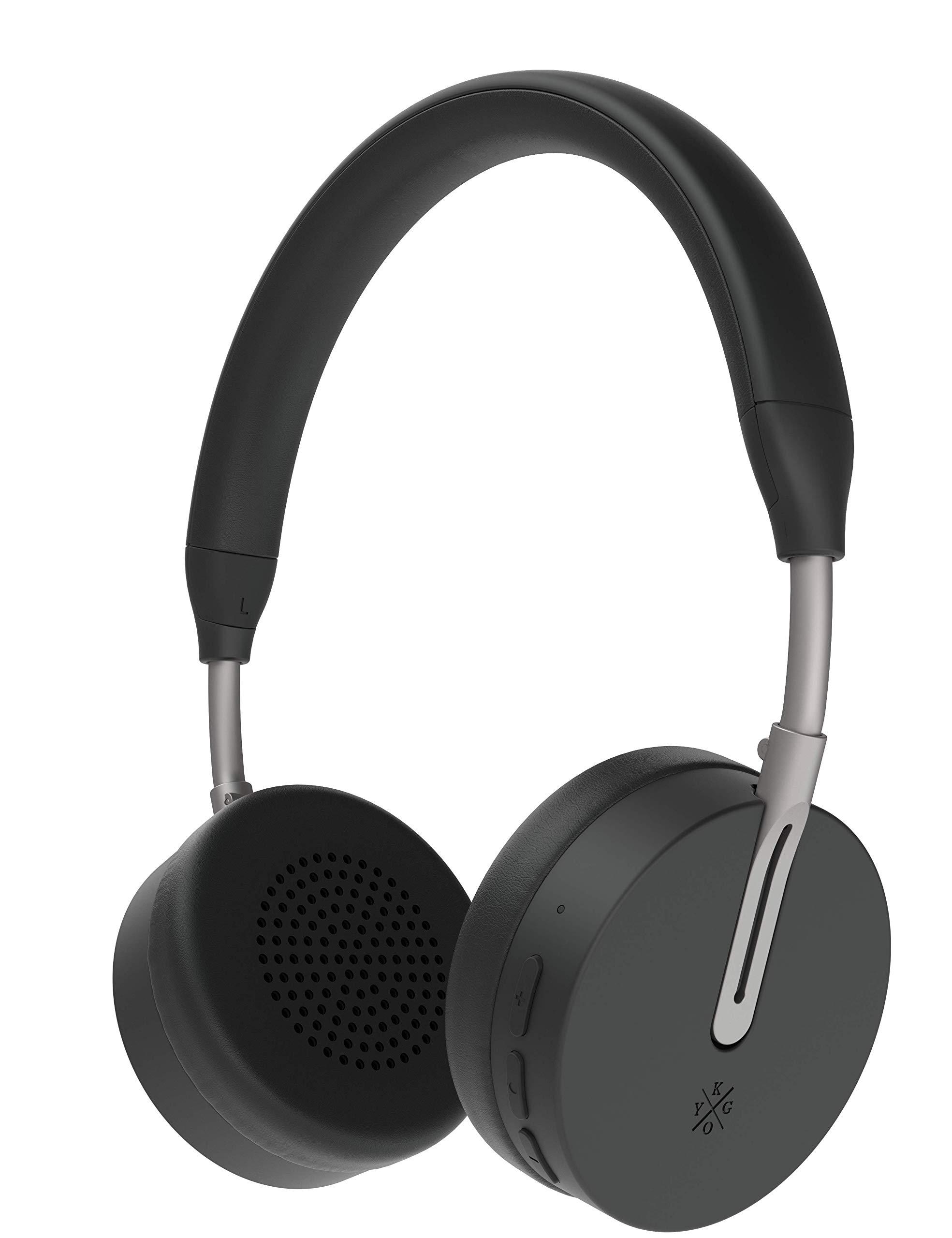 Amazon Com Kygo Life A6 500 On Ear Bluetooth Headphones Aptx And Aac Codecs Built In Microphone Nfc Pairing Memory Foam Ear Cushions 18 Hours Playback Kygo Sound App Pro Line Black Electronics