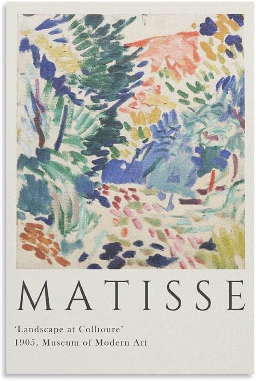 NIEE Matisse Landscape at Collioure Canvas Plakat Art famous ...