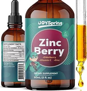 Zinc for Kids - Kids Vitamin C and Elderberry - Liquid Zinc Drops to Boost Children's Defense System