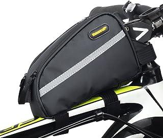 29a1d47df62 rhinowalk bicicleta tubo frontal bolsa 7 inch impermeable de gran capacidad  de sarga de nailon,