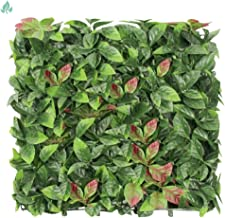 SunnyRoyalArtificial Boxwood Panels Topiary Hedge Plant UV Protected Privacy Ivy ScreenFaux Greenery Wall Décor Outdoor ...