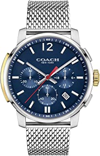 COACH Men's Bleecker Chrono Mesh Matte Navy One Size