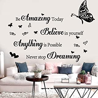 Wall Stickers Inspirational Quotes Be Amazing Today Believe in Yourself Anything is Possible Never Stop Dreaming Motivatio...