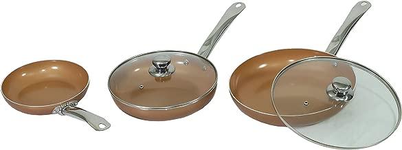 MAXELLPOWER Juego DE 3 SARTENES 2 Tapas Color Cobre Copper