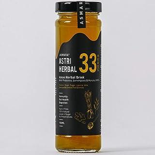 Asmara Astri Herbal 33 - Immunity & Digestive Drink, Lemongrass & Lime, 150 ml (Pack of 40)