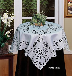 Creative Linens Embroidered Floral Tablecloth 33
